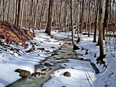 Winter's Creek Poster by BackHome Images