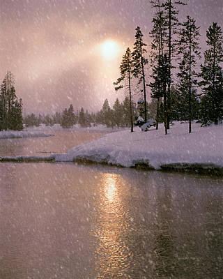 Winters Light Poster by Leland D Howard
