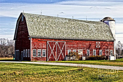 Wisconsin Old Barn 4 Poster by Ms Judi