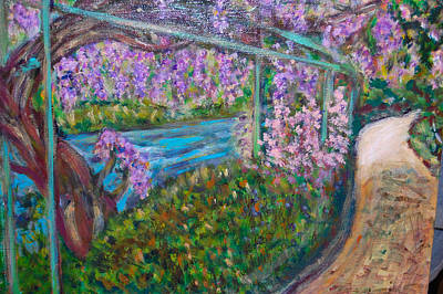 Wisteria Poster by Carolyn Donnell