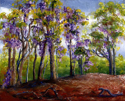 Wisteria In Louisiana Trees Poster by Lenora  De Lude