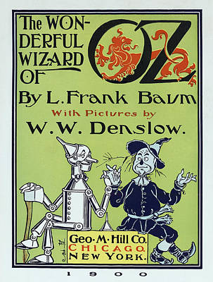 Wizard Of Oz Book Cover  1900 Poster by Daniel Hagerman