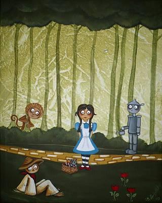 Wizard Of Oz - If We Walk Far Enough Poster by Charlene Murray Zatloukal