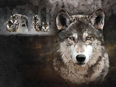 Wolf Gang Poster by Marina Likholat