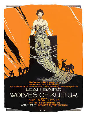 Wolves Of Kultur 1918 Movie Poster Poster by Vintage Product Ads