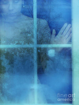 Woman At A Window Poster by Jill Battaglia