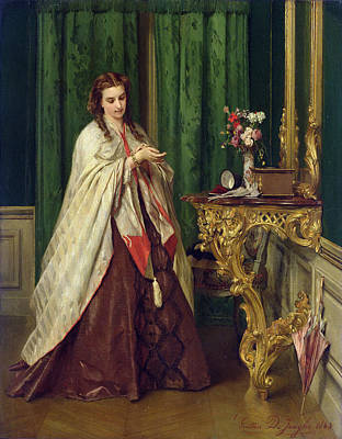 Woman At Her Toilet Poster by Gustave Leonard de Jonghe
