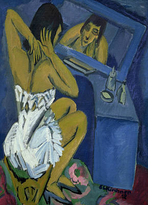 Woman Before The Mirror Poster by Ernst Ludwig Kirchner