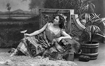 Woman Reclining In Luxury Poster by Underwood Archives