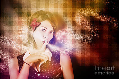 Woman Whispering A Magical Secret Poster by Jorgo Photography - Wall Art Gallery