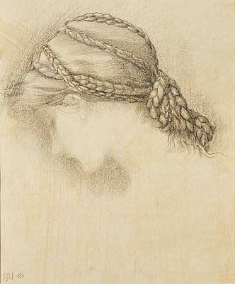 Womans Head, Detail From A Sketchbook Poster by Sir Edward Coley Burne-Jones