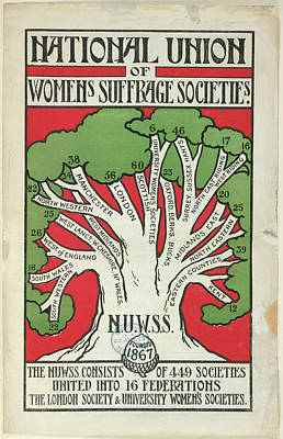 Women's Suffrage Societies Poster by British Library