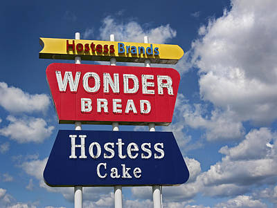 Wonder Bread Hostess Sign Poster by Audra J Shields