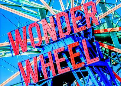 Wonder Wheel Poster by Jon Woodhams
