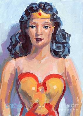 Corsets Poster featuring the painting Wonder Woman by Kimberly Santini