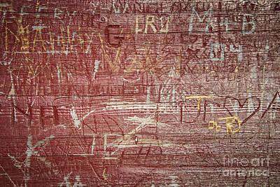 Wood Graffiti Poster by Elena Elisseeva