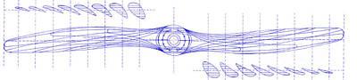 Wooden Aircraft Propeller Blueprint Poster by Jon Neidert