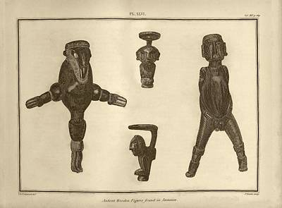 Wooden Figures From Jamaica Poster by Middle Temple Library