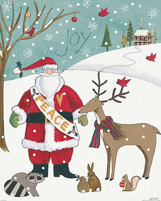 Woodland Christmas Vii Poster by Anne Tavoletti