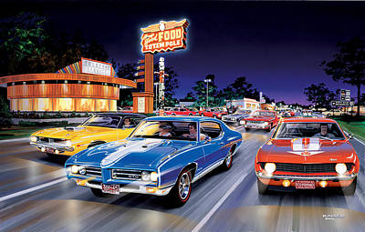 Woodward Avenue Poster by Bruce Kaiser