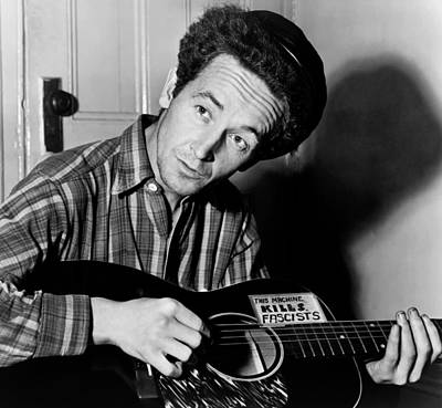 Woody Guthrie 1943 Poster by Mountain Dreams