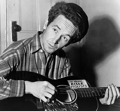 Woody Guthrie Poster by Georgia Fowler