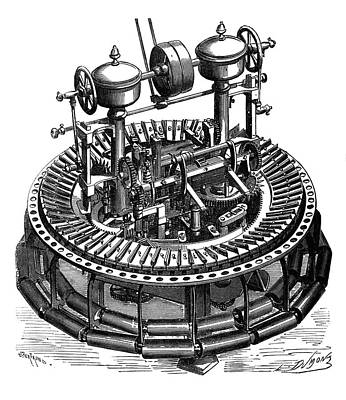 Wool Combing Machine Poster by Science Photo Library