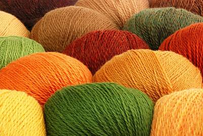 Wool Yarn Poster by Jim Hughes