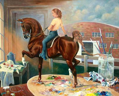 Work In Progress II Poster by Jeanne Newton Schoborg