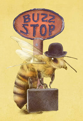 Worker Bee Yellow Option Poster by Eric Fan