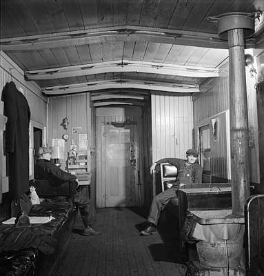 Workers In The Caboose 1942 Poster by Mountain Dreams