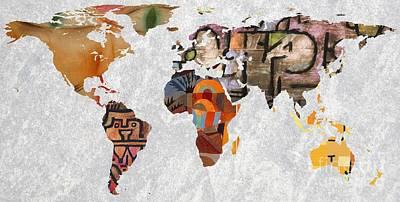 World Map   Paul Klee 3 Poster by John Clark