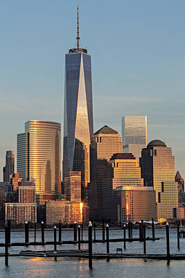 World Trade Center Freedom Tower Nyc Poster by Susan Candelario