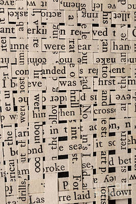 Woven Words Poster by Edward Fielding