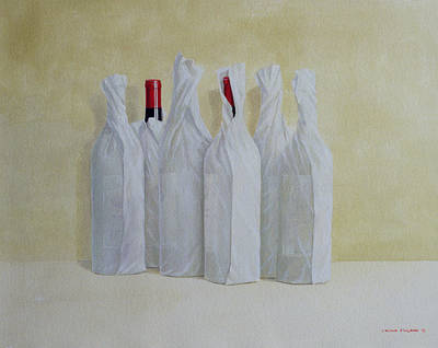 Wrapped Bottles Number 2 Poster by Lincoln Seligman