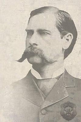 Wyatt Earp U. S. Marshal Poster by Daniel Hagerman