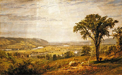 Wyoming Valley. Pennsylvania Poster by Jasper Francis Cropsey