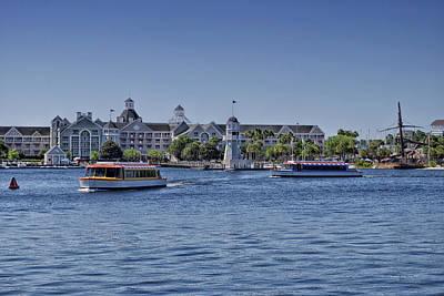 Yacht And Beach Club Walt Disney World Poster by Thomas Woolworth