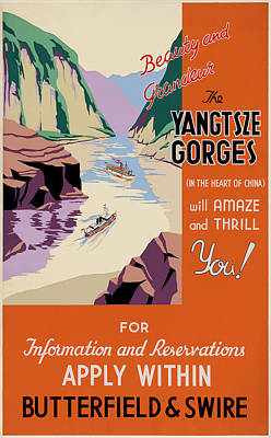 Yangtze Gorges China Poster by Georgia Fowler