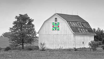 Yankee Hill Farm Quilt Barn Poster by Brian Mollenkopf