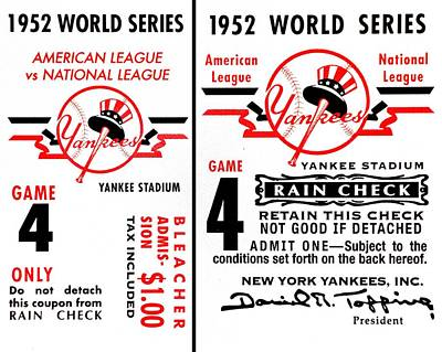 Yankees 4th Straight - Modern Poster by Benjamin Yeager