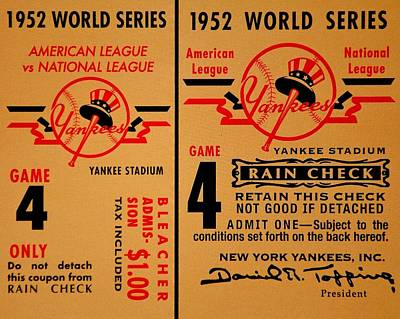 Yankees 4th Straight - Vintage Poster by Benjamin Yeager