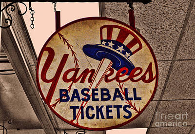 Yankees Baseball Poster by Tommy Anderson