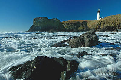 Yaquina Head Lighthouse Poster by Nick  Boren