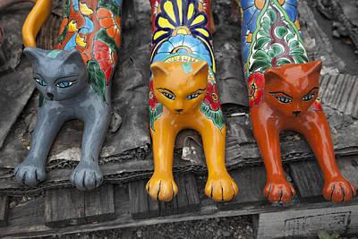 Yard Kitties Poster by Greg Kopriva