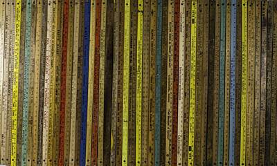 Yardsticks - Colorful Poster by Kurt Olson