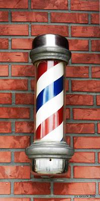 Ye Modern Barber's Pole Poster by Lea Adkisson