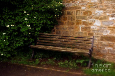 Ye Olde Bench In Bakewell Town Peak District - England Poster by Doc Braham