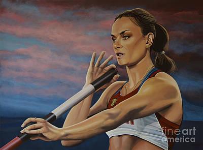 Yelena Isinbayeva   Poster by Paul Meijering
