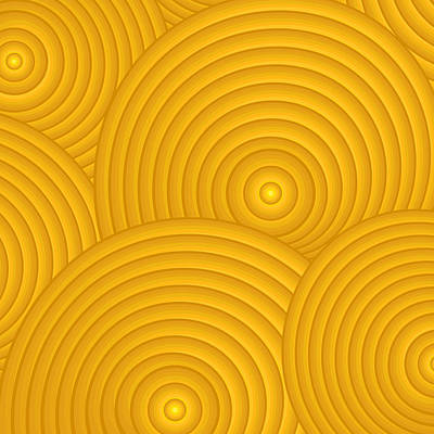 Yellow Abstract Poster by Frank Tschakert